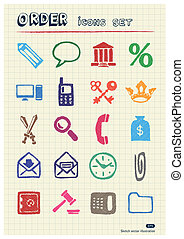 Order, law and heraldic web icons