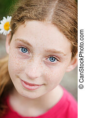 beautiful blue eyes - beautiful teen aged girl with blue...