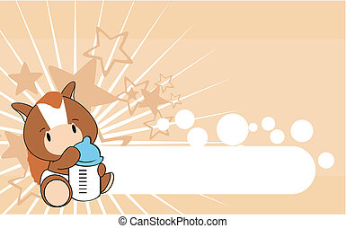horse baby cartoon background