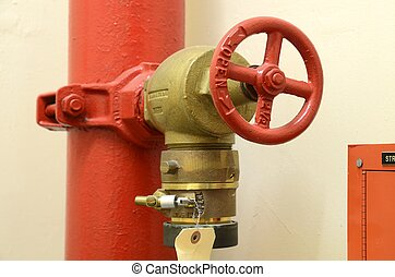 High pressure fire hose valve concept of fire safety and...