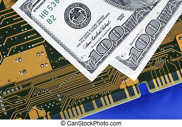 Investing in technology concept of future earnings
