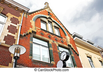 Old building autumn overcast day Valkenburg Netherlands