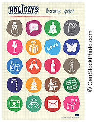 Christmas and other holidays icons - Christmas and other...