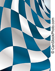 blue checker - Checkered flag background flapping in the...