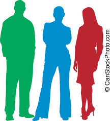 Business people silhouette - Business people