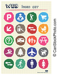 Family, vacation human figure icons - Family and vacation...