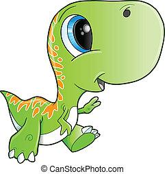 lindo, Tyrannosaurus, Rex, Dinosaurio