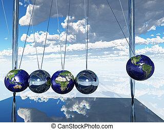 Newtons Cradle Earth