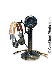 葡萄酒, 桌面, candlestick, 電話