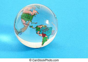 地圖, 北方, 世界, 全球, 政治, 玻璃, 小, 美國, 南方