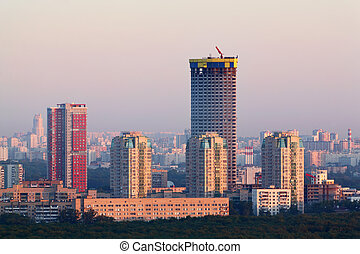 MOSCOW - JUNE 1: Tricolor complex under construction in 37th...