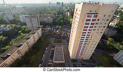 MOSCOW - JUNE 1: Building on Rokossovsky blvd for swindled...
