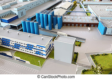 MOSCOW - MARCH 3: Small maquette of at Wimm-Bill-Dann milk plant, on March 3, 2011 in Moscow, Russia. Largest producers of curd in Russia are Danone Industry and Wimm-Bill-Dann, according to 2011.