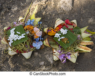 Balinese offering - Canang, a Balinese offering to the Gods...
