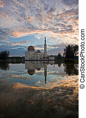 Sunrise and mosque reflection - taken at the one of the...