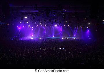 MOSCOW - MAY 7: Popular DJ Armin van Buren at grand show...