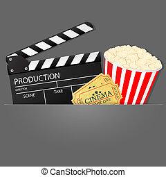 cinema, fundo, vetorial, Ilustração