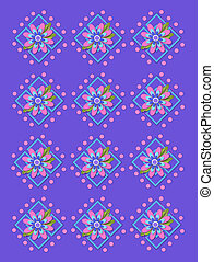 Garden Trellis in Periwinkle - Periwinkle background is...