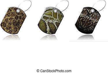 Set of labels of snake skin_2 - Set of labels of snake skin...