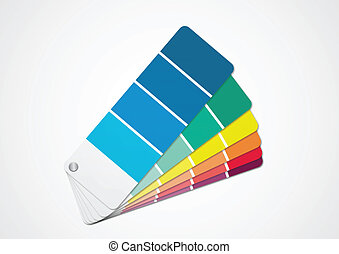 Color chart (Vector) - Illustration of color chart