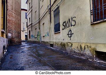 italian narrow alley