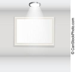 White frames in art gallery vector illustration