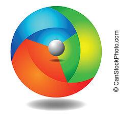 3d ball full color