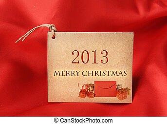 Christmas greeting card with 2013