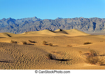 Sand Dunes, Ripples And Mountain Peaks, Death Valley...