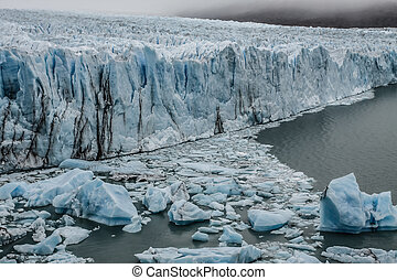 View of the magnificent Perito Moreno glacier, patagonia,...