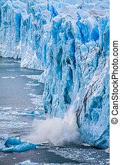 View of the magnificent Perito Moreno glacier, patagonia,...