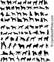100 dogs - 100 silhouettes of dogs