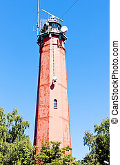 lighthouse Latia Morska in Hel, Pomerania, Poland