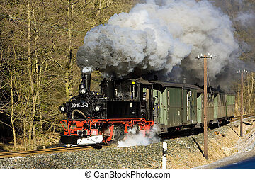 steam train, Germany - steam train, Steinbach - Johstadt,...