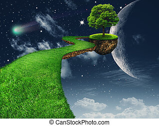 In the Moon light. Fantasy abstract backgrounds for your design