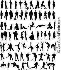 People sillhouettes - Plenty of different vector people...