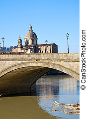 Bridge over the River Arno in Florence -