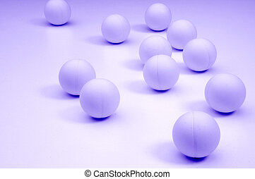 blue balls - lots of small balls spaced out into the...