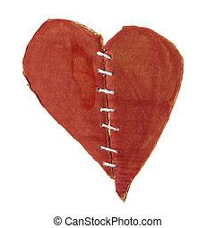 fixed brocken heart, isolated on white background