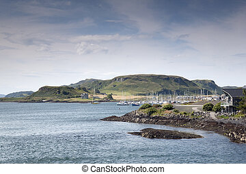 Port of Isle of Kerrera in Scotland, UK