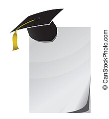 Education notepad paper illustration design over white