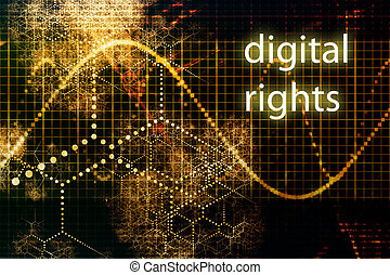 Digital Rights Abstract Technology Concept Wallpaper...