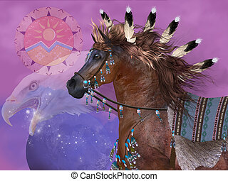 Year of the Eagle Horse - The Eagle in native American...
