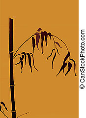 Vector Japanese motive - bamboo - Japanese motive bamboo...