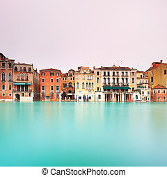 Venice, Grand Canal landmark detail. Long exposure photography. Italy