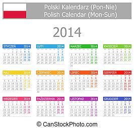 2014 Polish Type-1 Calendar Mon-Sun