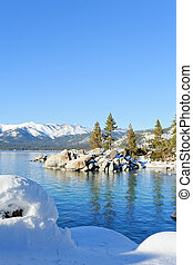 Lake Tahoe - winter landscape