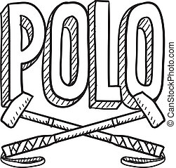 Polo sketch - Doodle style polo sports illustration Includes...