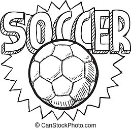 Soccer sketch - Doodle style soccer or football illustration...