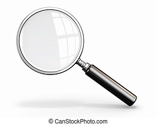 Magnifying glass Loupe on white background 3d